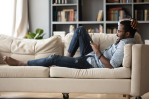 Man on a couch