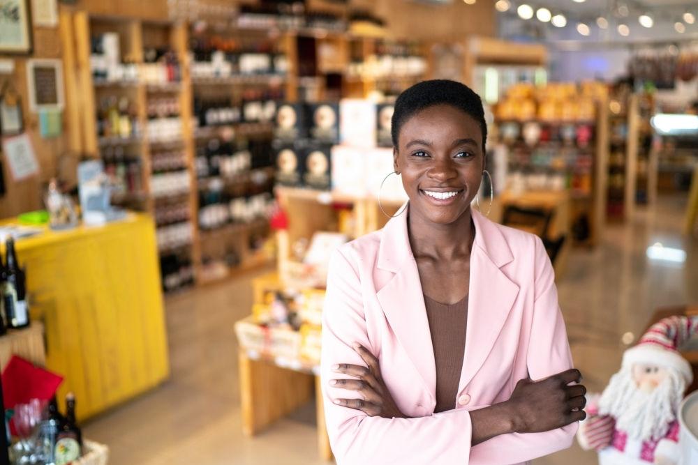 A black business woman